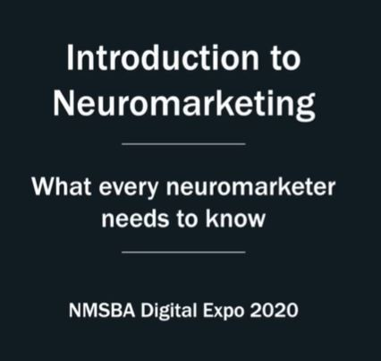 Free online course 'introduction to neuromarketing' for members of the NMSBA